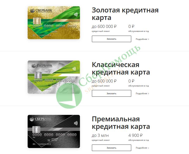 Основные условия пользования кредитной картой Сбербанка