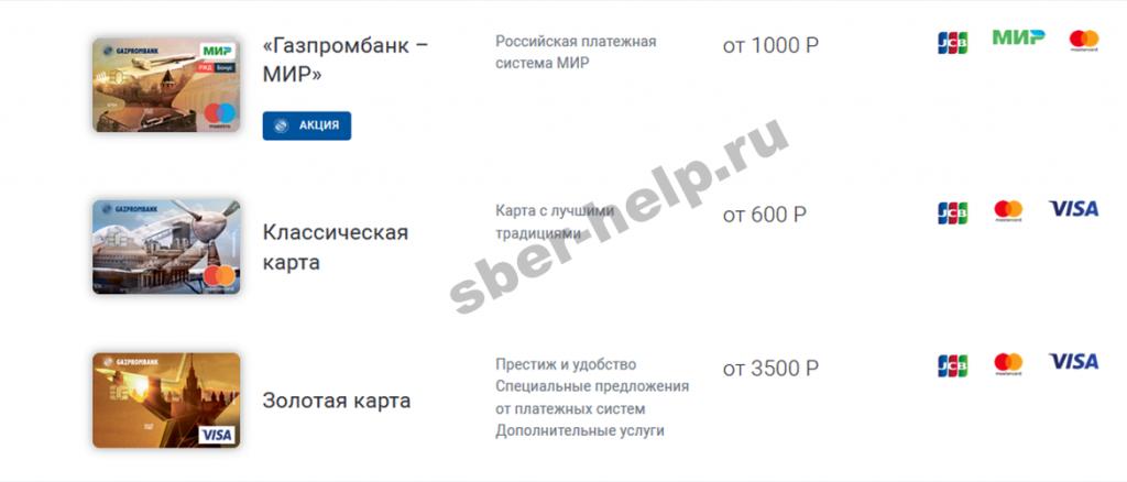 Дебетовая карта от Газпромбанка: условия и тарифы