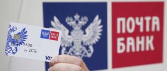 Рассрочки по картам Почта Банка